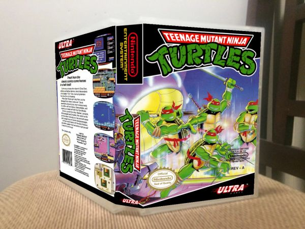 Teenage Mutant Ninja Turtles NES Game Case with Internal Artwork