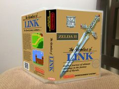 Legend of Zelda II The Adventure of Link GOLD CARTRIDGE NES Game Case with Internal Artwork