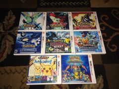 Pokemon 3DS 8 Case Lot