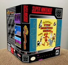 Adventures of Rocky and Bullwinkle and Friends (The) SNES Game Case with Internal Artwork