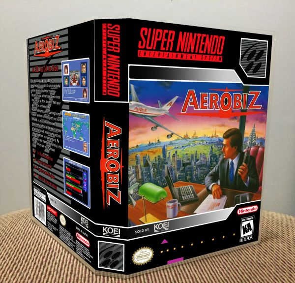Aerobiz SNES Game Case with Internal Artwork