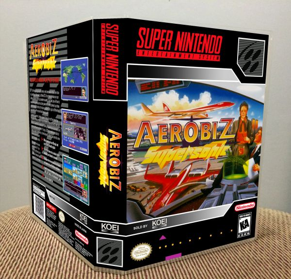 Aerobiz Supersonic SNES Game Case with Internal Artwork