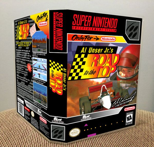 Al Unser Jr.'s Road to the Top SNES Game Case with Internal Artwork