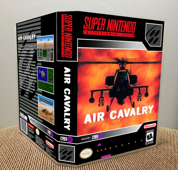 Air Cavalry SNES Game Case with Internal Artwork