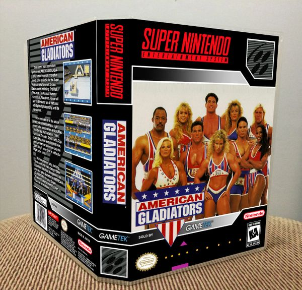 American Gladiators SNES Game Case with Internal Artwork