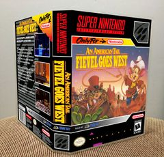 An American Tail: Fievel Goes West SNES Game Case with Internal Artwork