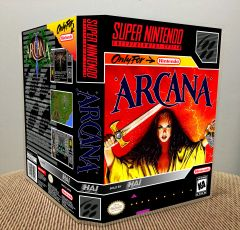 Arcana SNES Game Case with Internal Artwork