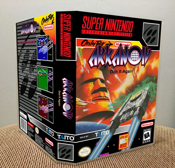 Arkanoid: Doh It Again SNES Game Case with Internal Artwork