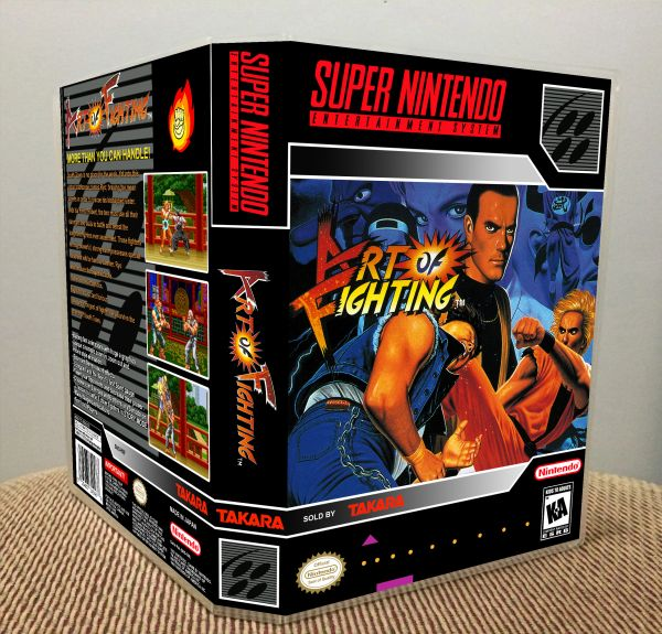 Art Of Fighting Snes Game Case Game Case King Custom Game Cases For Nes Snes N64 Gameboy