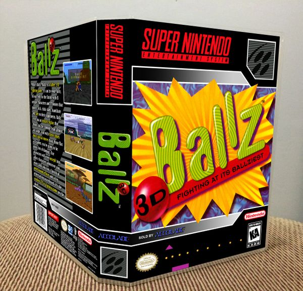 Ballz 3D SNES Game Case with Internal Artwork