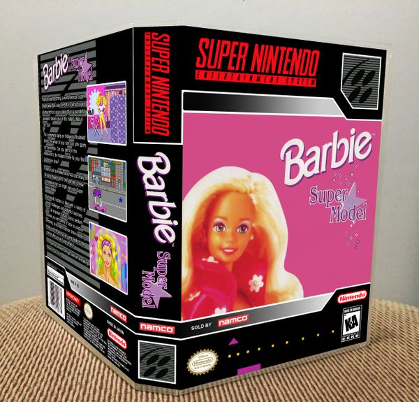 Barbie Super Model SNES Game Case with Internal Artwork