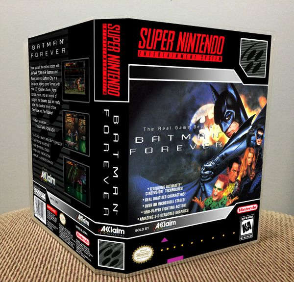 Batman Forever SNES Game Case with Internal Artwork