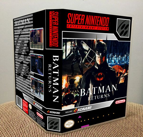 Batman Returns SNES Game Case with Internal Artwork