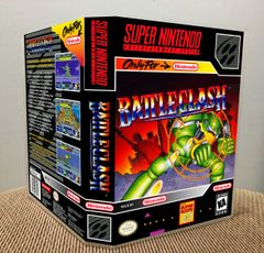 Battle Clash SNES Game Case with Internal Artwork