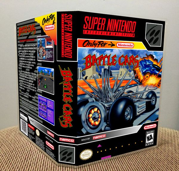 Battle Cars SNES Game Case with Internal Artwork