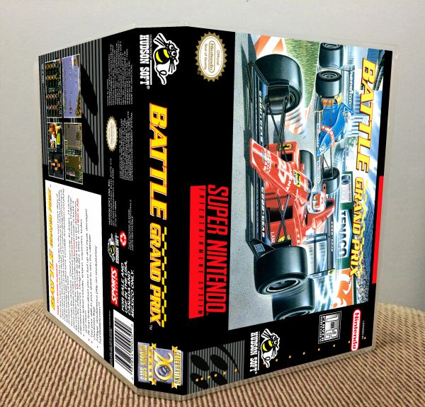Battle Grand Prix SNES Game Case with Internal Artwork