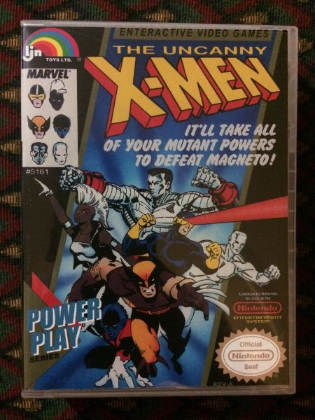 The Uncanny X Men Nes Game Case Game Case King Custom Game Cases For Nes Snes N64 Gameboy