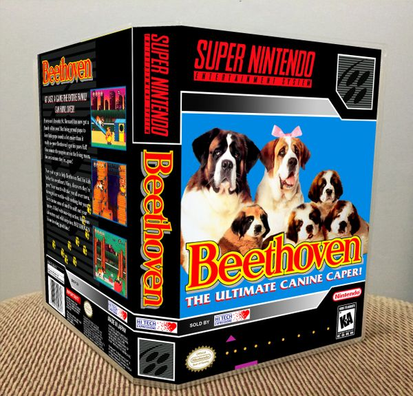 Beethoven: The Ultimate Canine Caper SNES Game Case with Internal Artwork