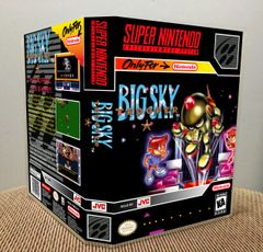 Big Sky Trooper SNES Game Case with Internal Artwork