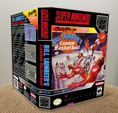 Bill Laimbeer's Combat Basketball SNES Game Case with Internal Artwork