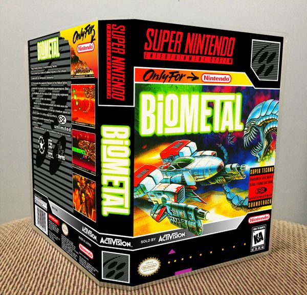 BioMetal SNES Game Case with Internal Artwork