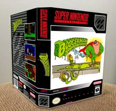 Boogerman: A Pick and Flick Adventure SNES Game Case with Internal Artwork