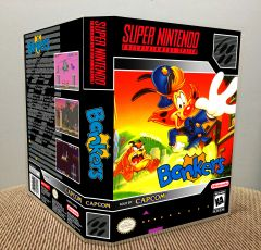 Bonkers SNES Game Case with Internal Artwork