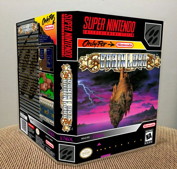 Brain Lord SNES Game Case with Internal Artwork