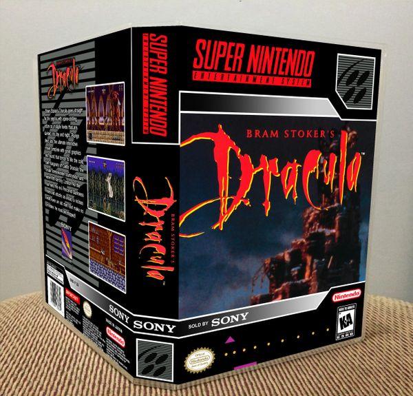 Bram Stoker's Dracula SNES Game Case with Internal Artwork