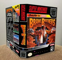 Brawl Brothers SNES Game Case with Internal Artwork