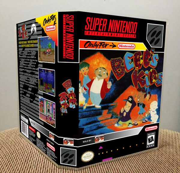 Bebe's Kids SNES Game Case with Internal Artwork