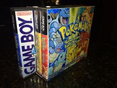 Pokemon Red, Blue, Yellow Case Bundle WITH CUSTOM SLIP COVER!!!