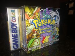 Pokemon Gold, Silver, Crystal Case Bundle WITH CUSTOM SLIP COVER!!!