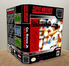 Cal Ripken Jr. Baseball SNES Game Case with Internal Artwork