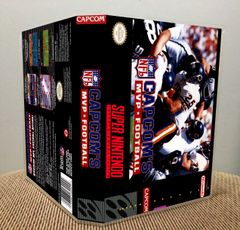 Capcom's MVP Football SNES Game Case with Internal Artwork