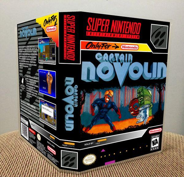 Captain Novolin SNES Game Case with Internal Artwork