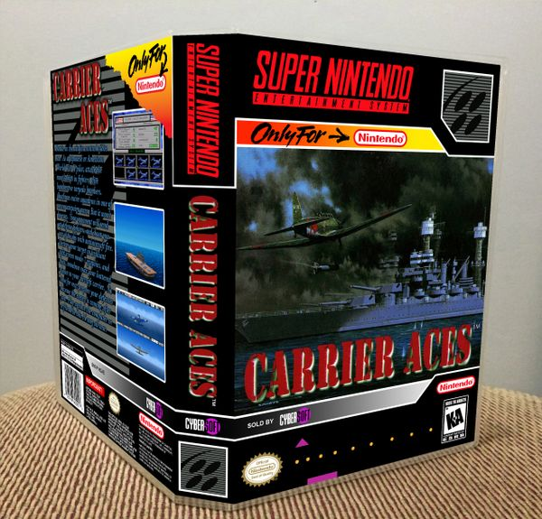 Carrier Aces SNES Game Case with Internal Artwork