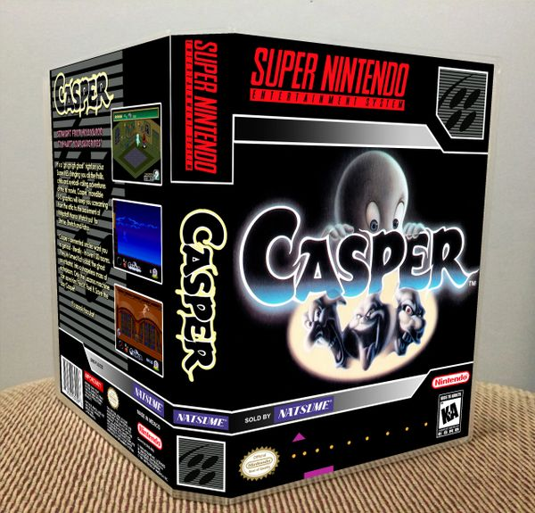 Casper SNES Game Case with Internal Artwork