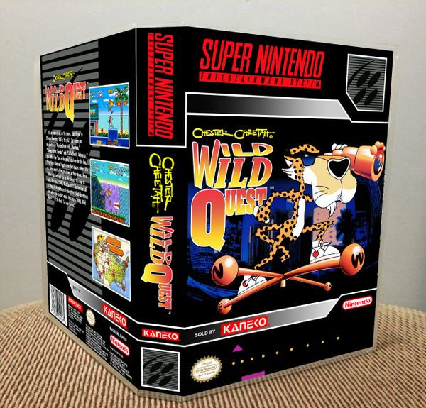 Chester Cheetah: Wild Wild Quest SNES Game Case with Internal Artwork