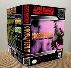 Choplifter III SNES Game Case with Internal Artwork