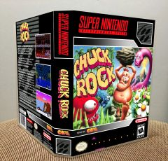 Chuck Rock SNES Game Case with Internal Artwork