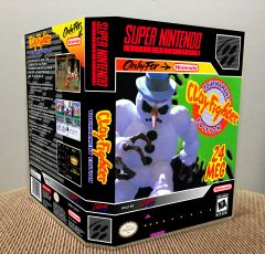 ClayFighter: Tournament Edition SNES Game Case with Internal Artwork