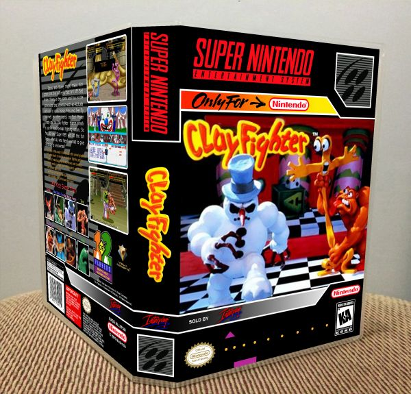 ClayFighter SNES Game Case with Internal Artwork