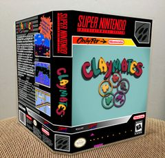 Claymates SNES Game Case with Internal Artwork