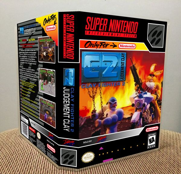 ClayFighter 2 C2: Judgement Clay SNES Game Case with Internal Artwork