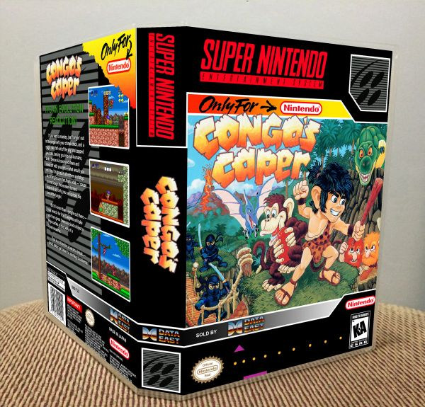 Congo's Caper SNES Game Case with Internal Artwork