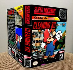 Cleaning Kit SNES Game Case with Internal Artwork