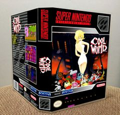 Cool World SNES Game Case with Internal Artwork