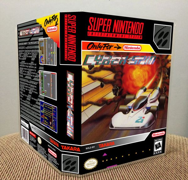 Cyber Spin SNES Game Case with Internal Artwork