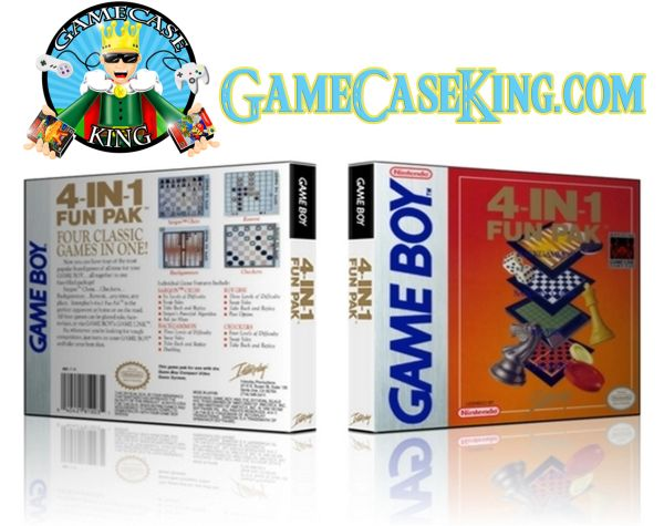 4-In-1 Fun Pak Gameboy Game Case